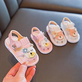 Giày tập đi - Sandal cho bé trai bé gái tập đi đế mềm chống trơn trượt, phát tiếng kêu phong cách Hàn Quốc