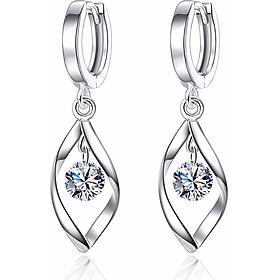 Hoa tai bạc xoắn 925 - khuyên tai - trang sức bạc Panmila (HT.A4.B)