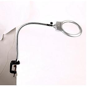 Kính lúp hàn mạch kẹp bàn có đèn, độ phóng đại 5 lần cao cấp V2 model MG15124-B