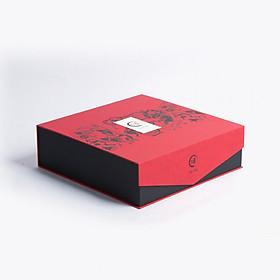 Hình đại diện sản phẩm Hộp quà tết trà Thịnh Vượng - Hồng Trà – Trà Ô Long – Trà Nõn tôm – Trà Tuyết