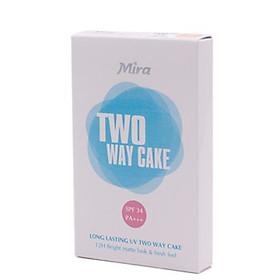 Phấn nén trang điểm siêu mịn Mira Two Way Cake Hàn Quốc 12g No.21 Cream Beige tặng kèm móc khoá-2