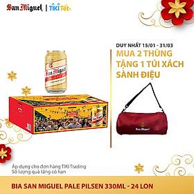 Thùng 24 Lon Bia  SAN MIGUEL Pale Pilsen 330 ml