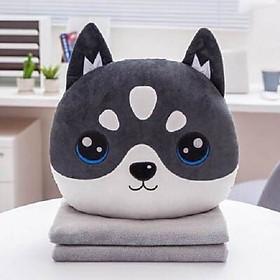 Bộ chăn gối ngủ văn phòng hình thú mặt tròn, siêu dễ thương, vải mềm mịn, nhiều mẫu tự chọn đáng yêu, gồm gối, mền, hay thú bông đa tác dụng, cho bạn tâm trạng thoải mái và giấc ngủ ngon mỗi ngày