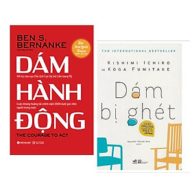 Combo 2 Cuốn Sách Thay Đổi Tư Duy Tâm Đắc Nhất : Dám Bị Ghét + Dám Hành Động (Tặng kèm Bookmark Happy Life)
