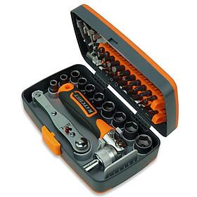 38 in 1 Chrome-Vanadium Steel Labor-saving Ratchet Multipurpose Screwdriver Bits Sleeve Set Household Hardware Tool Set