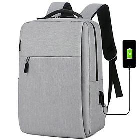 Balo nam, nữ đa năng đựng vừa Laptop - Macbook chất liệu cao cấp chống thấm, tặng kèm cổng nối cáp sạc tiện lợi TK0031