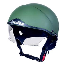Mũ Bảo Hiểm Nửa Đầu Kính Giấu Andes 3S139