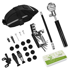 Bike MTB Repair Tools Kit Set Mountain Bike Cycle Puncture Tyre Pump