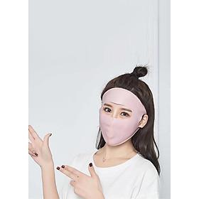 Khẩu trang NINJA Chống Bụi, Tia UV FULLFACE (Màu Hồng)