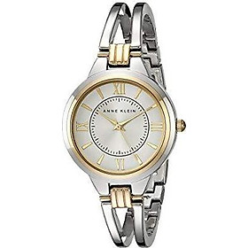 Anne Klein Women's AK/1441SVTT Two-Tone Open Bangle Watch