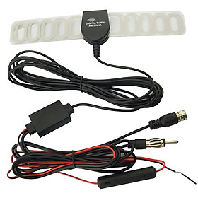 Car TV Digital DVB-T 2in1 FM/Radio Antenna Amp Booster F Connector TV Vehicle Mounted Antenna