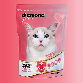 Cát Vệ Sinh Cho Mèo Công nghệ carbon siêu vón siêu khử mùi Diamond Feline túi hồng mùi phấn 7kgs/ 15.4Lbs (HÀNG CÔNG TY CHÍNH HÃNG)