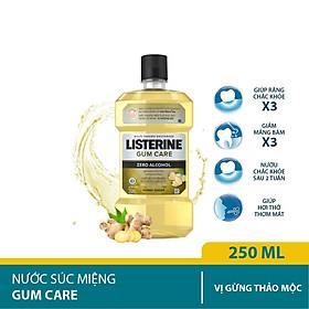 Nước súc miệng giúp nướu chắc khỏe Listerine Gum Care 250ml/chai