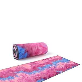 Hình đại diện sản phẩm Khăn Trải Thảm Yoga HATHA Cao Cấp (Hồng tím) bám siêu dính