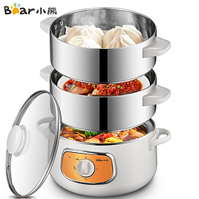 Bear electric steamer electric pot household electric hot pot multi-function pot integrated electric boiling pot electric heating pot 10L large DZG-D80D2