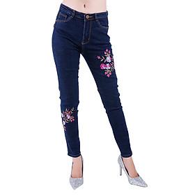 Quần Jeans Nữ Thêu Hoa Cao Cấp JNTH008