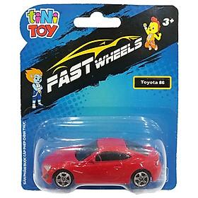 Đồ Chơi Xe Tốc Độ FastWheels 3 Inch - 342000S - Toyota 86 - Màu Đỏ