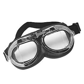 Universal Motorcycle Clear Lens Shatterproof Dustproof Goggles Eyewear Black
