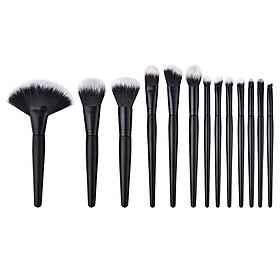 Hình đại diện sản phẩm 13 Pcs Makeup Brush Set Fan Shape Eyelash Eyebrow Eyeliner Women Cosmetic Tool