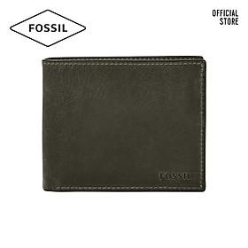 Ví cầm tay nam lớn dáng gập thời trang Fossil Derrick ML4154257 - màu xám