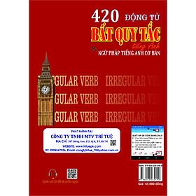 420 Động từ Bất Quy Tắc tiếng Anh & ngữ pháp tiếng Anh cơ bản