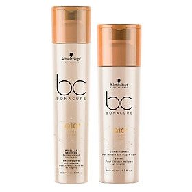 Bộ dầu gội xả Schwarzkopf BC Bonacure Q10+ Time Restore Micellar trẻ hóa tóc yếu dễ gãy rụng Đức 250ml-1