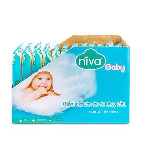 Hộp 12 gói Khăn giấy ướt Niva 30 miếng - Mềm mại cho làn da bé yêu