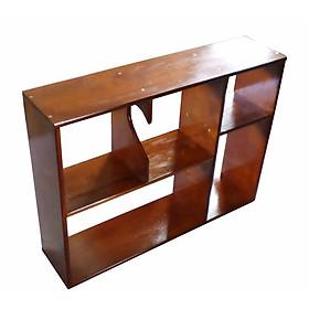 Kệ sách, kệ để đồ treo tường VIMOS gỗ tự nhiên- Tặng kèm tuột vít 2 đầu đa năng