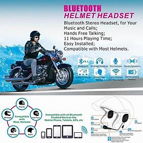 Bluetooth Helmet Headset Wireless Handsfree Stereo Earphone Motorcycle Helmet Headphones