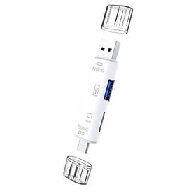 Đầu đọc thẻ nhớ đa năng dành cho điện thoại, máy tính 3 cổng kết nối USB, MicroUSB, TYPE-C, 2 cổng dữ liệu USB, TF truyền tải nhanh chóng, gọn gàng tiện dụng