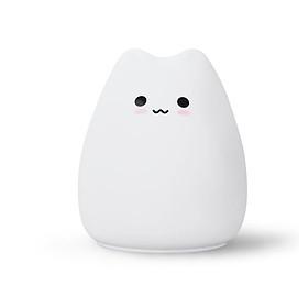 Đèn ngủ mini silicon hình Mèo Cute cho phòng trẻ em, cảm ứng đổi màu cực đáng yêu Venado