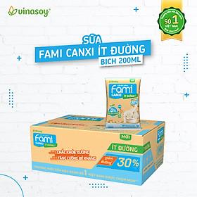 Thùng Sữa đậu nành Fami Canxi ít đường (200ml x 40 bịch)