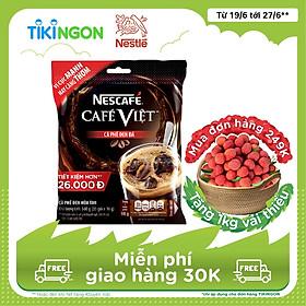 [Chỉ Giao HCM] Cà phê hòa tan Nescafé café Việt cà phê đen đá (Bịch 35 gói x 16g)