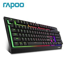 Bàn phím chơi game có dây Rapoo V52S với đèn nền kép màu phun màu xanh lá cây Bàn phím chuyển đổi trò chơi