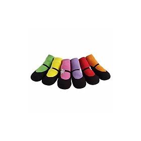 Tất giả giày chống trơn trượt Jazzy Toes cho bé - 6 đôi/tất Mary Jane (JT6-01)