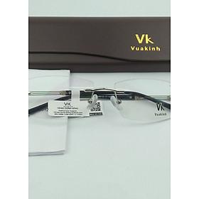 Gọng kính cận không viền càng 3 mảnh VK-14