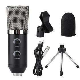 Micro USB Glosrik GL750 - Mic thu âm, livestream, chat voice, karaoke đa năng (Đi kèm chân đế, đầu bịt) - Hàng chính hãng