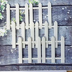 Hàng rào nhựa lắp ghép dài 1,6m cao 30cm trang trí cây