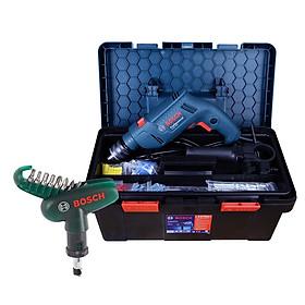 Bộ máy khoan động lực Bosch GSB 550 FREEDOM SET 90 chi tiết + Bộ mũi vặn vít cầm tay Bosch 10 món