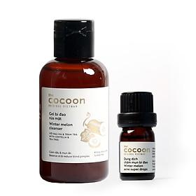 Combo gel bí đao rửa mặt Cocoon 140ml + Dung dịch chấm mụn bí đao cocoon 5ml
