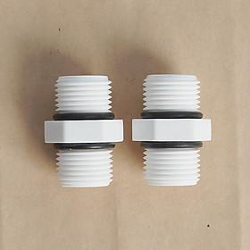 Bộ 2 nối thẳng 02 đầu ren ngoài 21 -21 nối ly lọc, cốc lọc