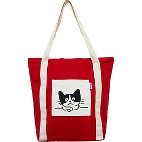 Túi Vải Đeo Vai Tote Bag XinhStore Hình Mèo Cao Cấp