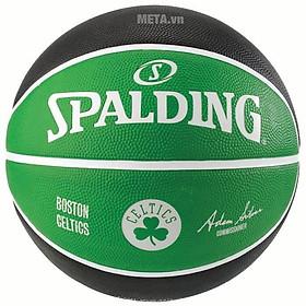 Bóng rổ Spalding NBA Team Boston Celtics (83-505Z)- Outdoor size 7- Tặng kim bơm bóng và túi lưới đựng bóng