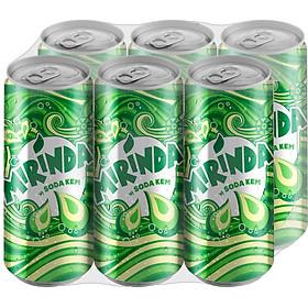 Lốc 6 Lon Nước Ngọt Có Gas Mirinda Soda Kem (320ml/Lon)