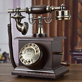 Điện thoại để bàn tân cổ điển phím quay DT11