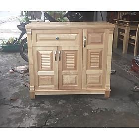 Tủ giày dép gỗ sồi tự nhiên 1m20