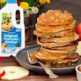 Bánh Đô Rê Mon Với Bột Pha Sẵn Woolworths Original Pancake Shaker 350g Xuất Xứ Úc - Tiện Lợi, Dễ Sử Dụng, Tiết Kiệm Thời Gian Cho Bánh Thơm Ngon, Xốp, Mềm