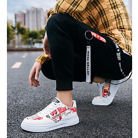 Giày nam sneaker thể thao họa tiết-0
