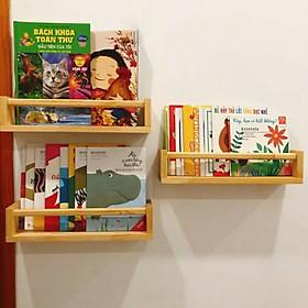 set 3 Kệ gỗ treo tường Chữ U Đựng Gia Vị  kệ để sách Giá treo đa năng phòng tắm gỗ thông tư nhiên