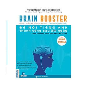 Combo Sách Brain Booster - Nghe - Phản Xạ Tiếng Anh Nhờ Công Nghệ Sóng Não  (Tặng kèm Kho Audio Books)